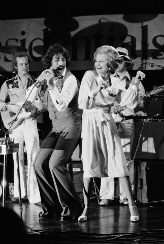 Betty Ford Dancing with Tony Orlando on Stage